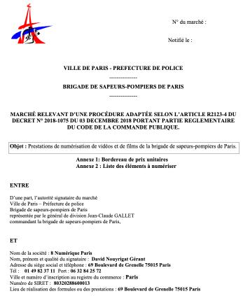 8 Numérique a obtenu l'appel d'offre lancé par les Pompiers de Paris en 2019